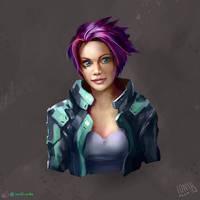 Sci-Fi Girl Character Sketch II