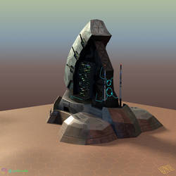 Colony Command Center (3D model/back) by IonfluxDA