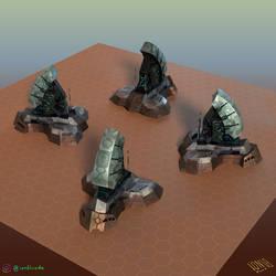 Colony Command Center (3D model/multiple views)