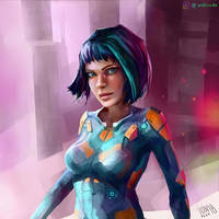 Sci-Fi Girl Character Sketch III