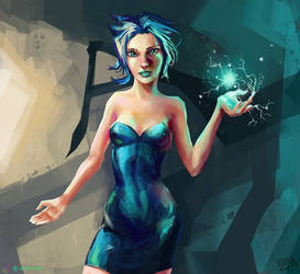 Psionic Girl Character Sketch