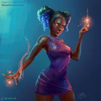 Magic Girl Fanart (OC by Loish)