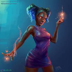 Magic Girl Fanart (OC by Loish) by IonfluxDA