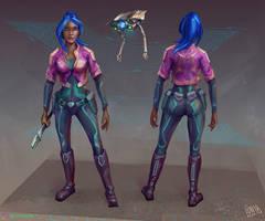 Zoe the Spaceship Engineer Concept