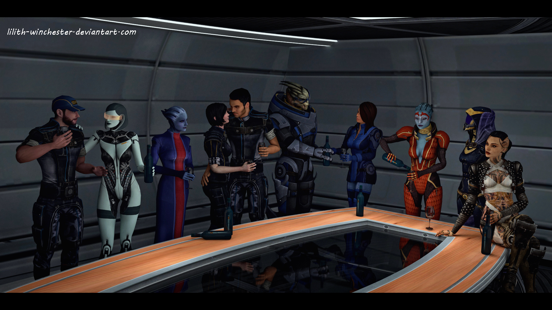 Mass Effect reunion by Lilith-Winchester