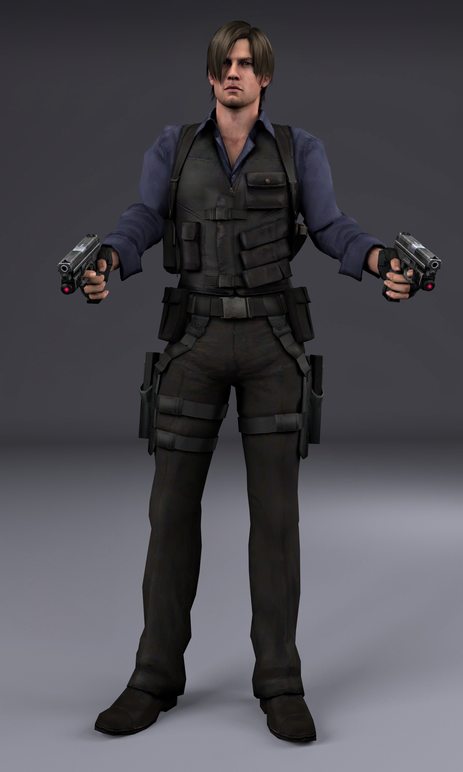 Leon S Kennedy render by Lilith-Winchester