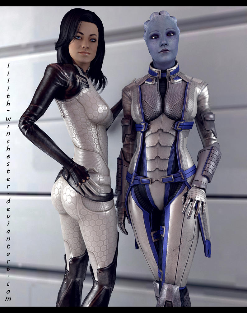 Miranda and Liara by Lilith-Winchester