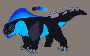 Blue Boulder Lizard Adopt - CLOSED by GalaxyReach