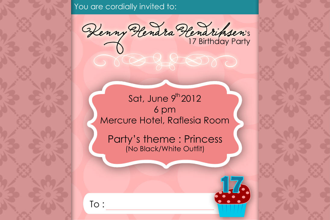 17 Birthday Invitation Design Princess by ivnkadsyra on DeviantArt – Design for Birthday Invitation