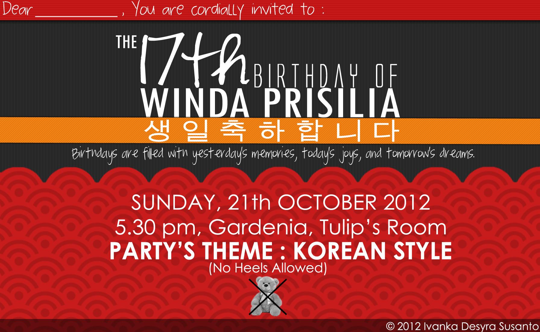 17 birthday invitation card design korean style by ivnkadsyra on 17 birthday invitation card design korean style by ivnkadsyra stopboris Choice Image