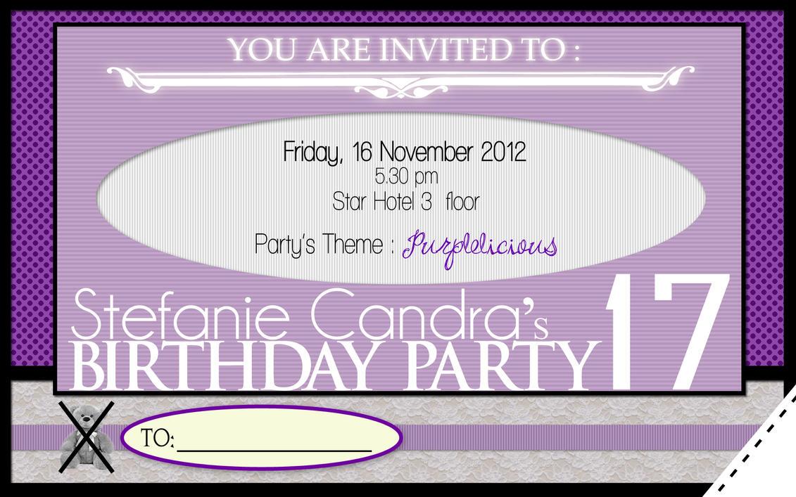 17 birthday invitation card design by ivnkadsyra on deviantart 17 birthday invitation card design by ivnkadsyra stopboris Choice Image