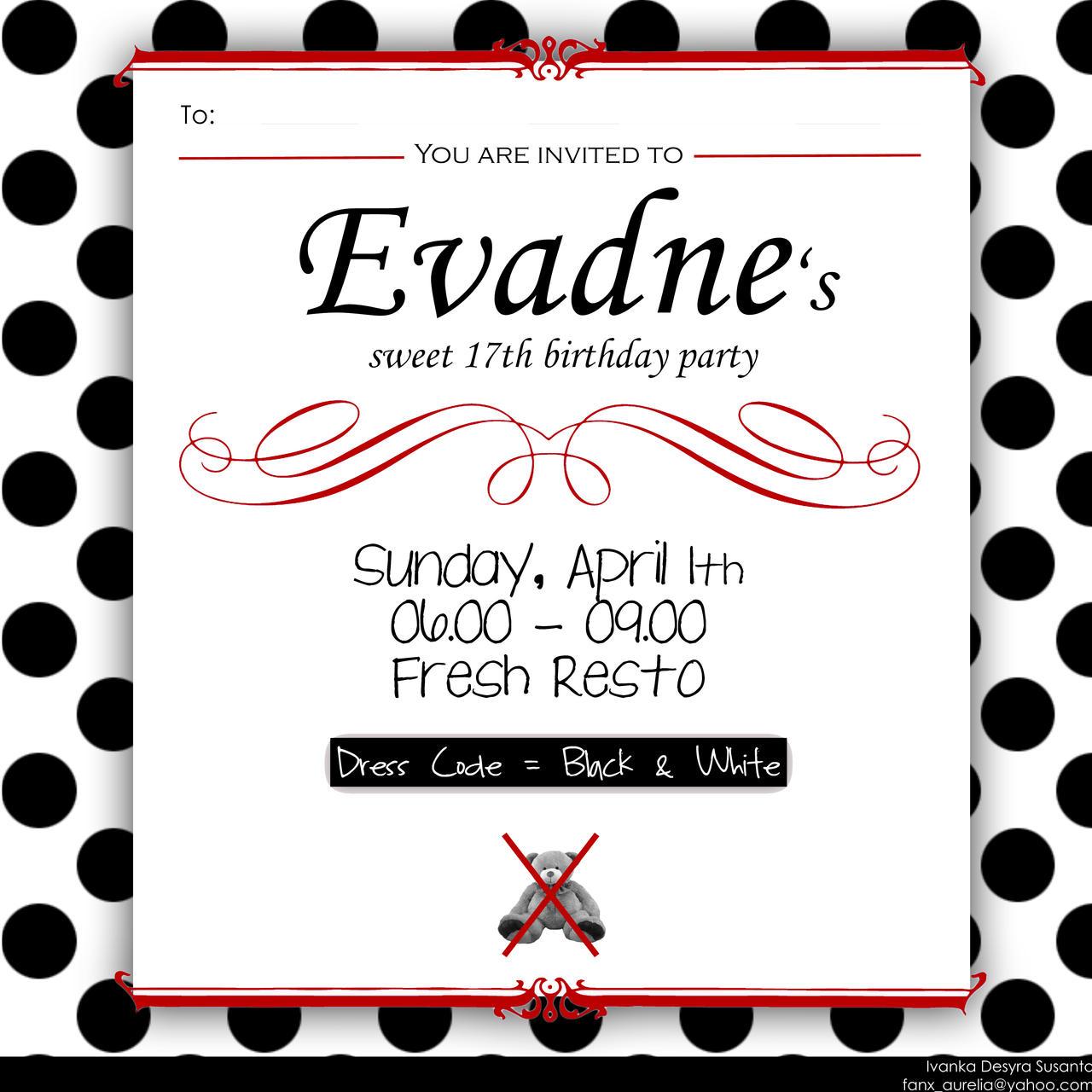 17 Birthday Invitation Card Design by ivnkadsyra on DeviantArt