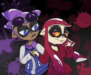 Kevin and Viridian / Splatoon by AniandherLucario