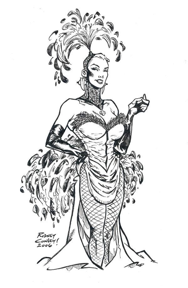 Modern Carnival Burlesque Girl by rodbcon on DeviantArt
