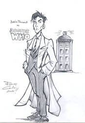 David Tennant as Doctor Who by rodbcon