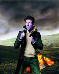 Zach on Fire by AlaraKiranor