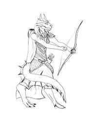 Bronze Half-Dragon Ranger by AlaraKiranor