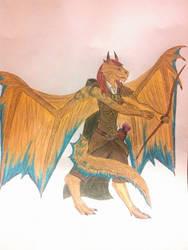 Caelith Aran - Bronze Half-Dragon Ranger by AlaraKiranor