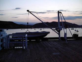 Boat On A Winch Point San Luis Pier APR 2005