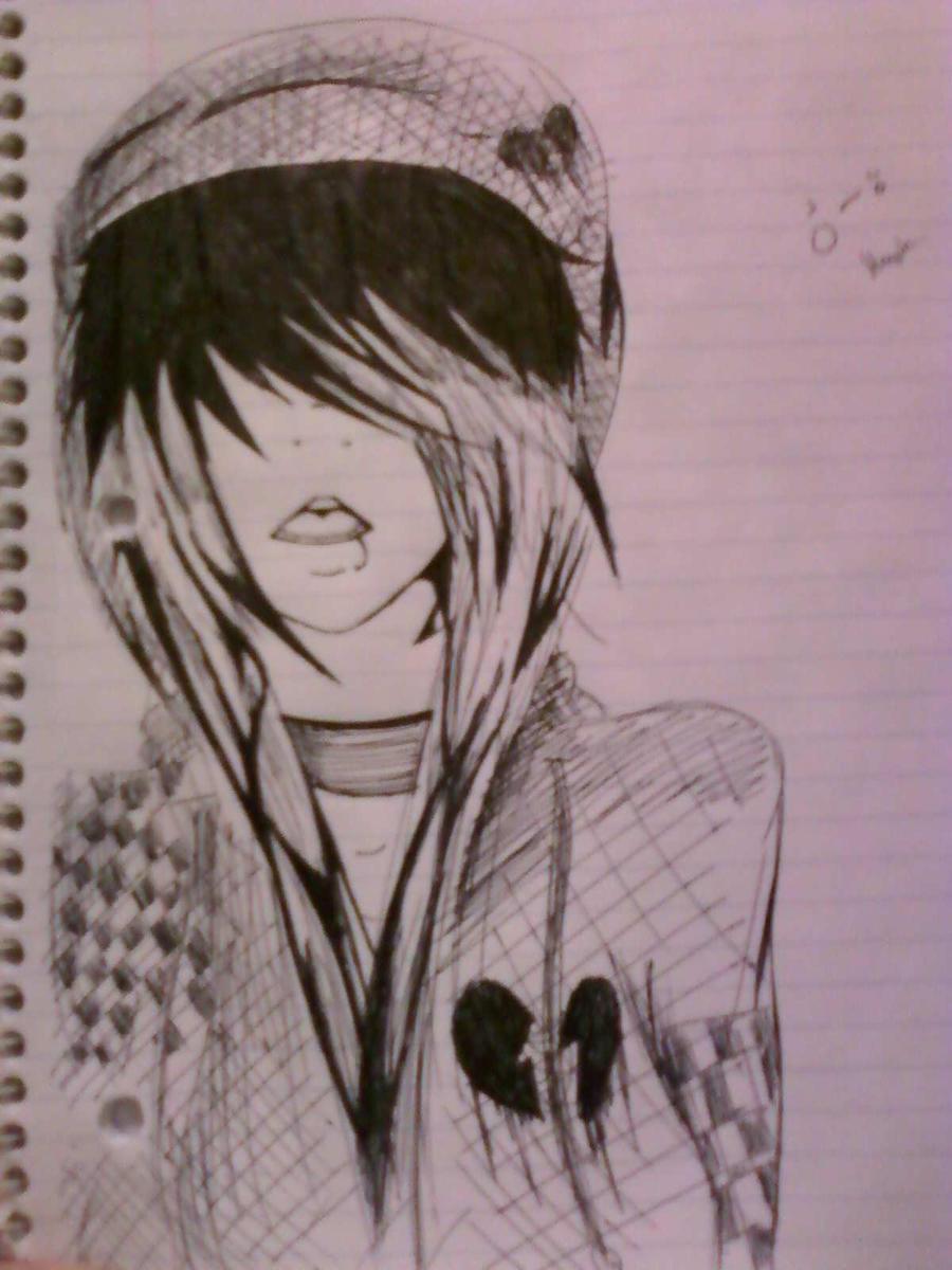 Emo Alone Drawings Random Emo Drawing by