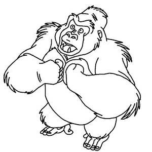 TLK/Tarzan Gorilla Lineart