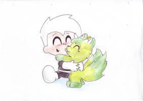 request 21: Danny and Leofin by Chibi-Danny