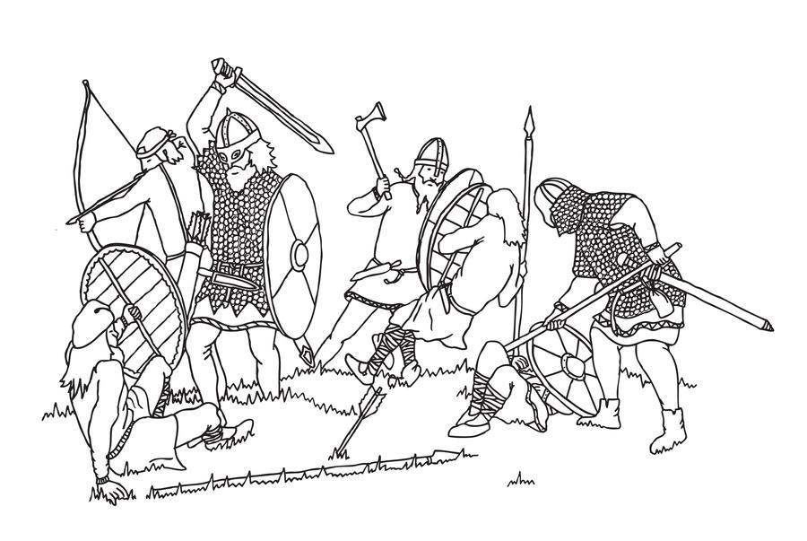 Viking Battle Scene by Julianne26