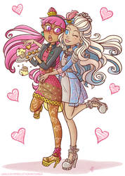 Candy witch and princess charming