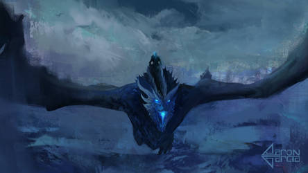 Ice Dragon Viserion by AaronGarcia