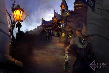 Escape From Arkham Asylum (Scarecrow) by AaronGarcia