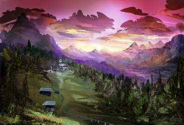 Mountainscape by AaronGarcia
