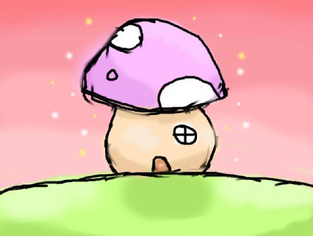 Mushroom House WIP by iiibrokeyhu