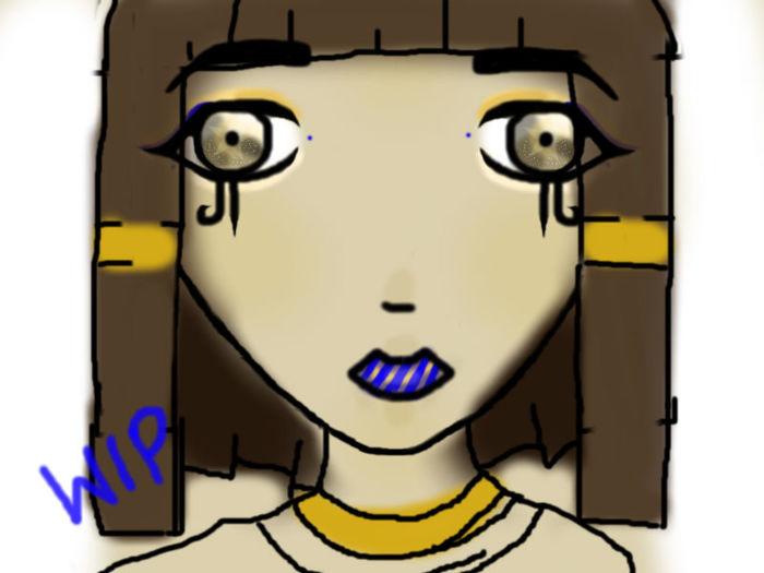 Ancient Egyptian WIP 2 by iiibrokeyhu