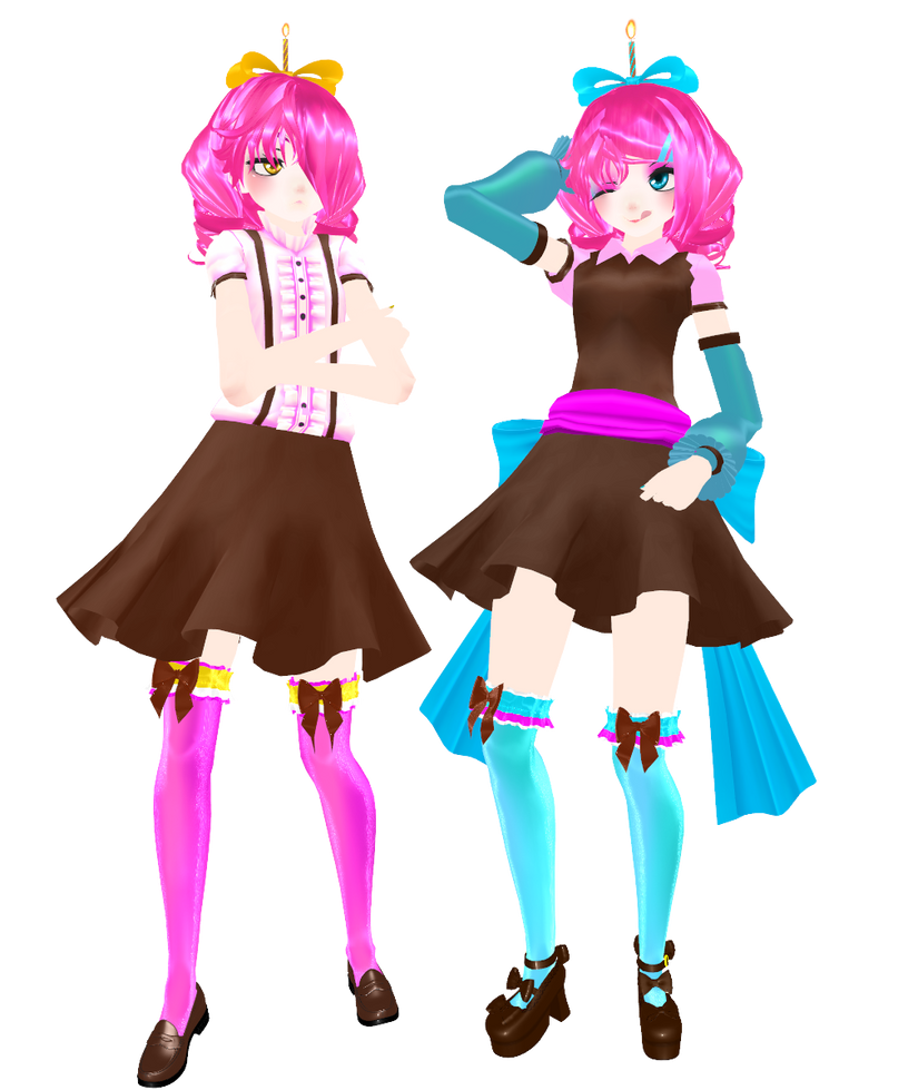 Mmd fnaf wip cupcake sister by natsumy paradise on for Deviantart mmd