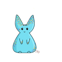 Blue Sprinkle Bunny by PipDesign
