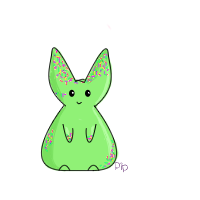 Green Sprinkle Bunny by PipDesign
