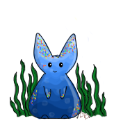 Ocean Sprinkle Bunny by PipDesign