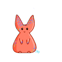 Red Sprinkle Bunny by PipDesign