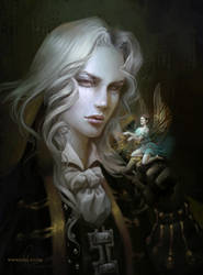 Alucard. Castlevania Symphony of the Night artwork