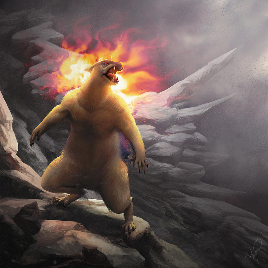 Pokedex - Realistic Typhlosion by nell-fallcard