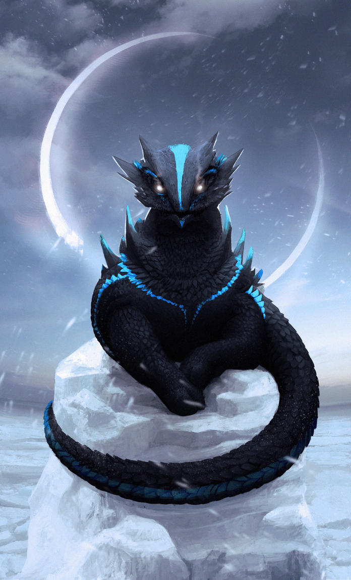 Ice Dragon, First Evolution by nell-fallcard