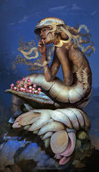 Mermaid Chill by nell-fallcard
