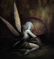 Mushroom Faerie by nell-fallcard