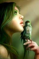 Green Wisper by nell-fallcard