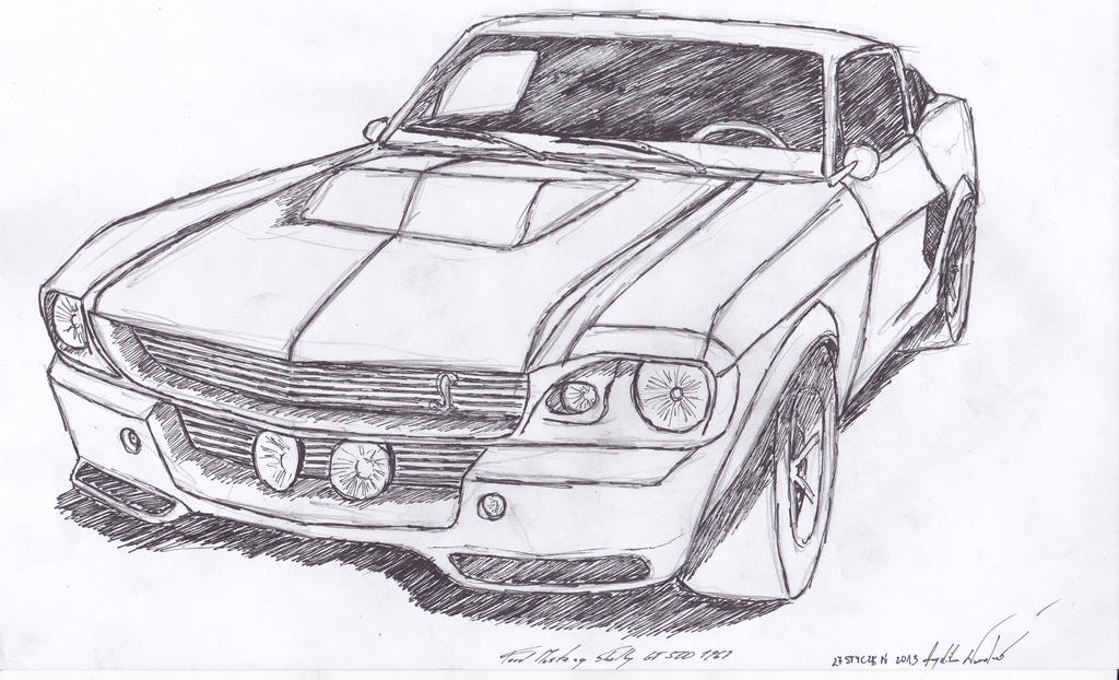 ford mustang shelby gt500 1967 by angeliqs on deviantart