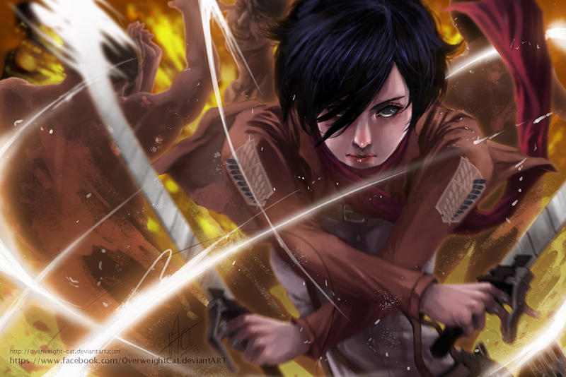 Mikasa by Overweight-Cat