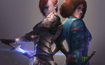 Saliah and Dinara by Overweight-Cat