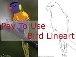 Bird Lineart by JordanMireldis