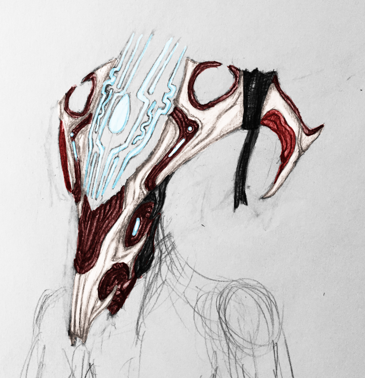 sentient_oberon_wendigo_helmet__coloured