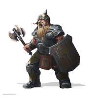 Dwarf Warrior for Dragonheim RPG by ortizfreelance
